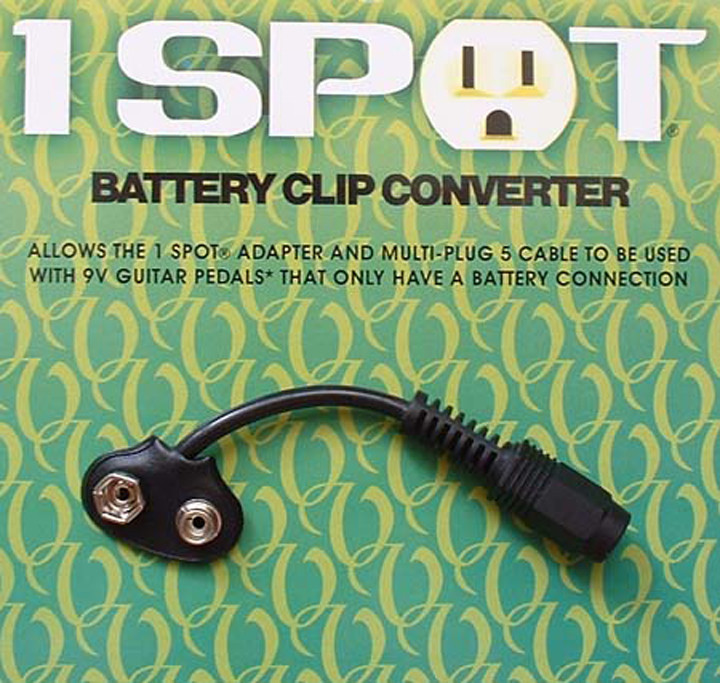 Visual Sound Battery Clip Converter for 1 Spot by Visual Sound