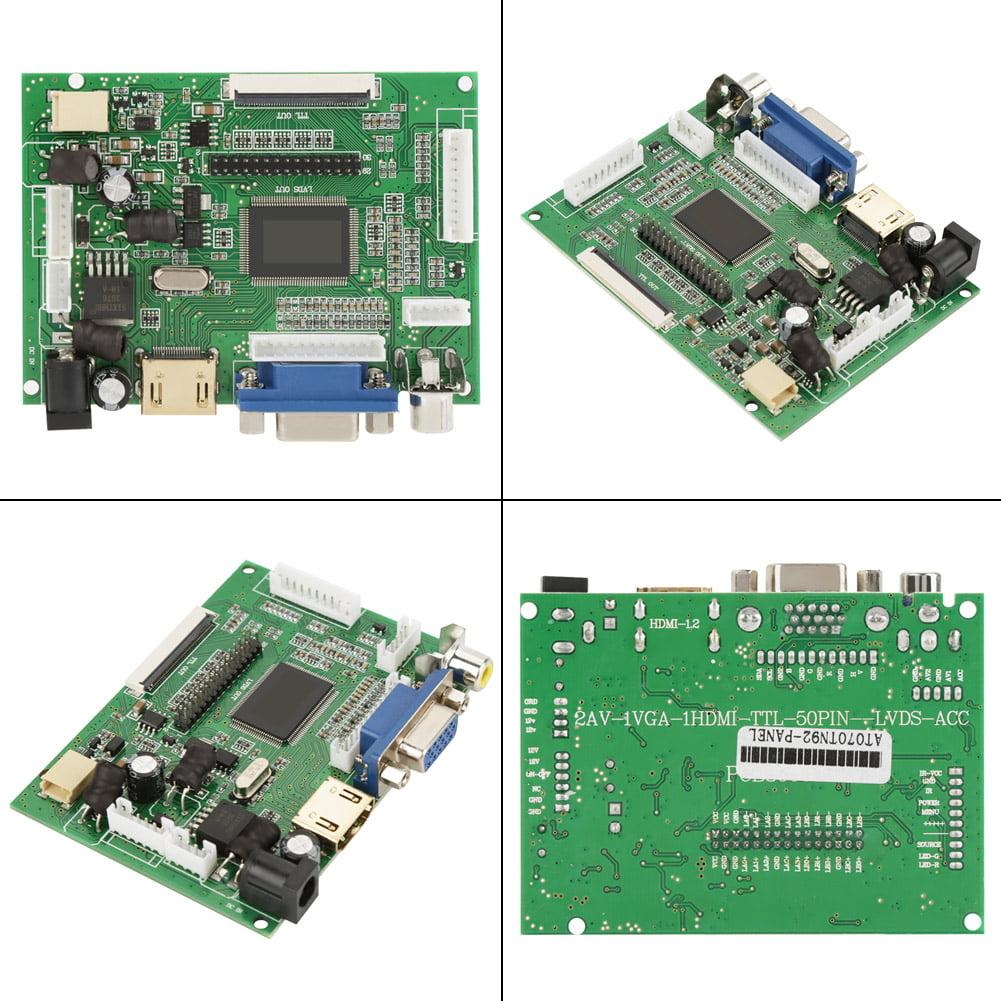 VBESTLIFE HDMI VGA 2AV Reversing Driver Board for 7inch AT070TN92 800x480  LCD Display Lcd Driver Board Reversing LCD Driver Board