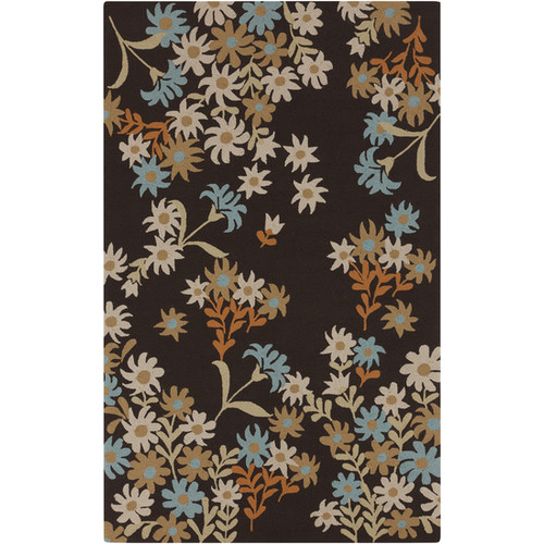 Paule Marrot Cannes Dark Brown / Bone Indoor / Outdoor Area Rug