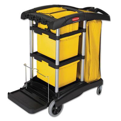 Rubbermaid Commercial HYGEN HYGEN Microfiber Healthcare Cleaning Cart