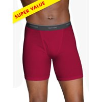 Deals on 10-Pack Fruit of the Loom Men's Boxer Briefs