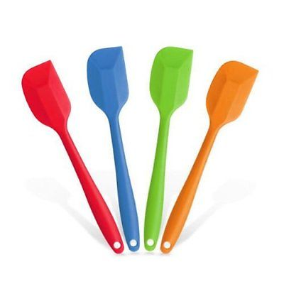 Silicone Spatulas Heat Resistant Cake Mixing Small Spatula 2 pcs Set Flexible