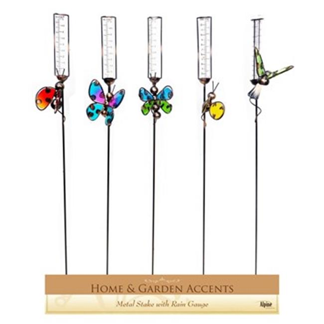 Alpine WQA392A Insect Stakes with Rain Gauge Assorted Display of 10 by Alpine Corporation
