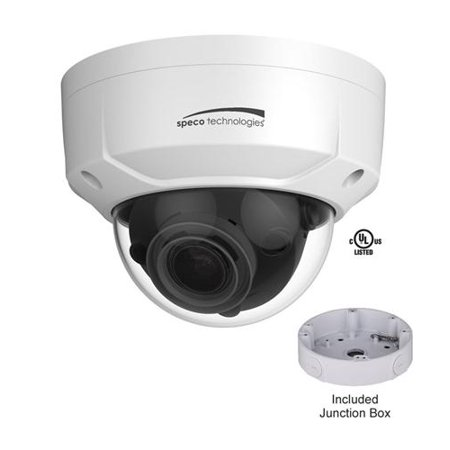 Speco Technologies O4D2M 4 Mp Ip Dome Outdoor Motorized Camera White