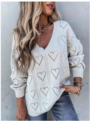 Women Summer Beach Crewneck Printed Floral Knit Tops Pullover Baggy Jumper Dress
