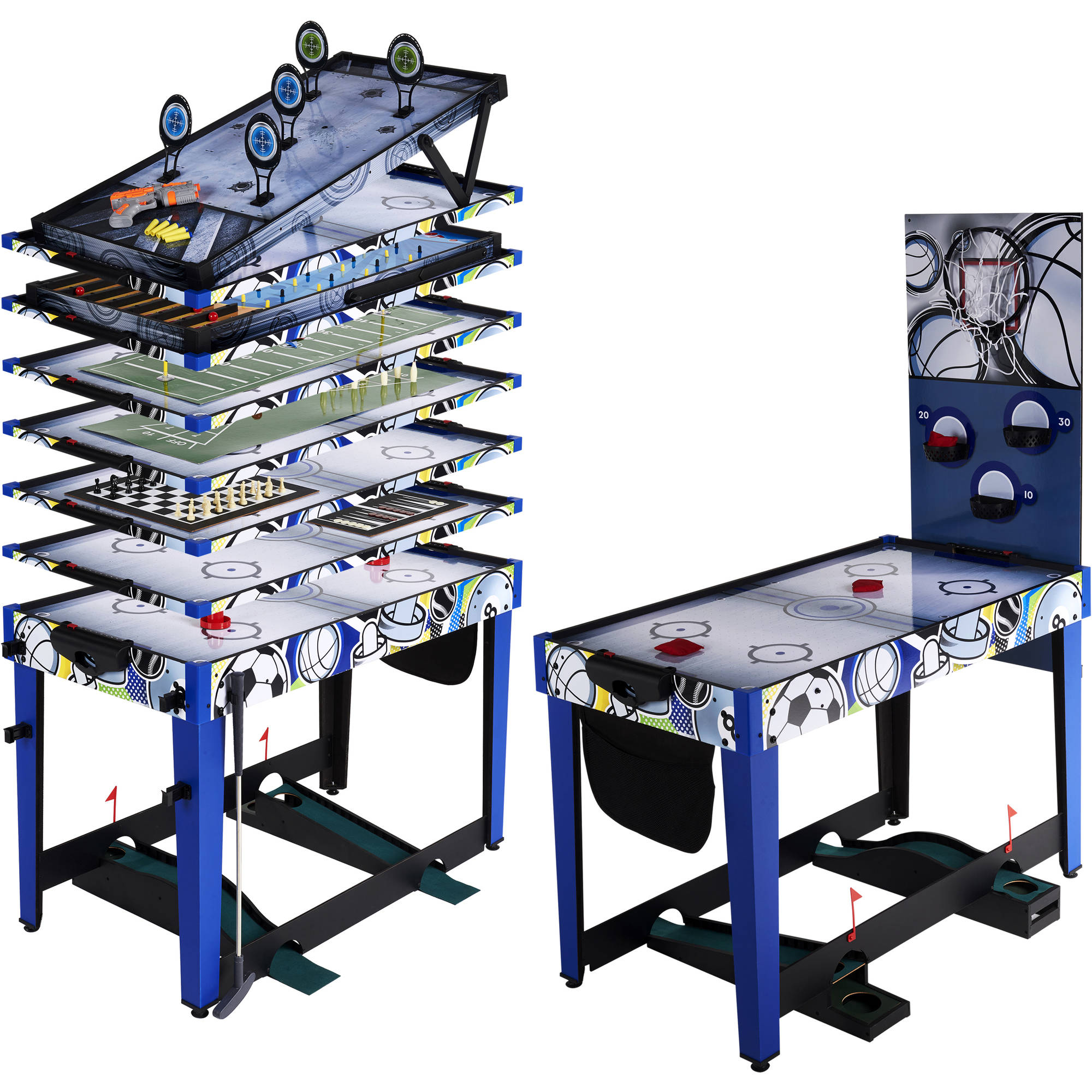 MD Sports 48 Inch 13-In-1 Multi-Game Combo Table