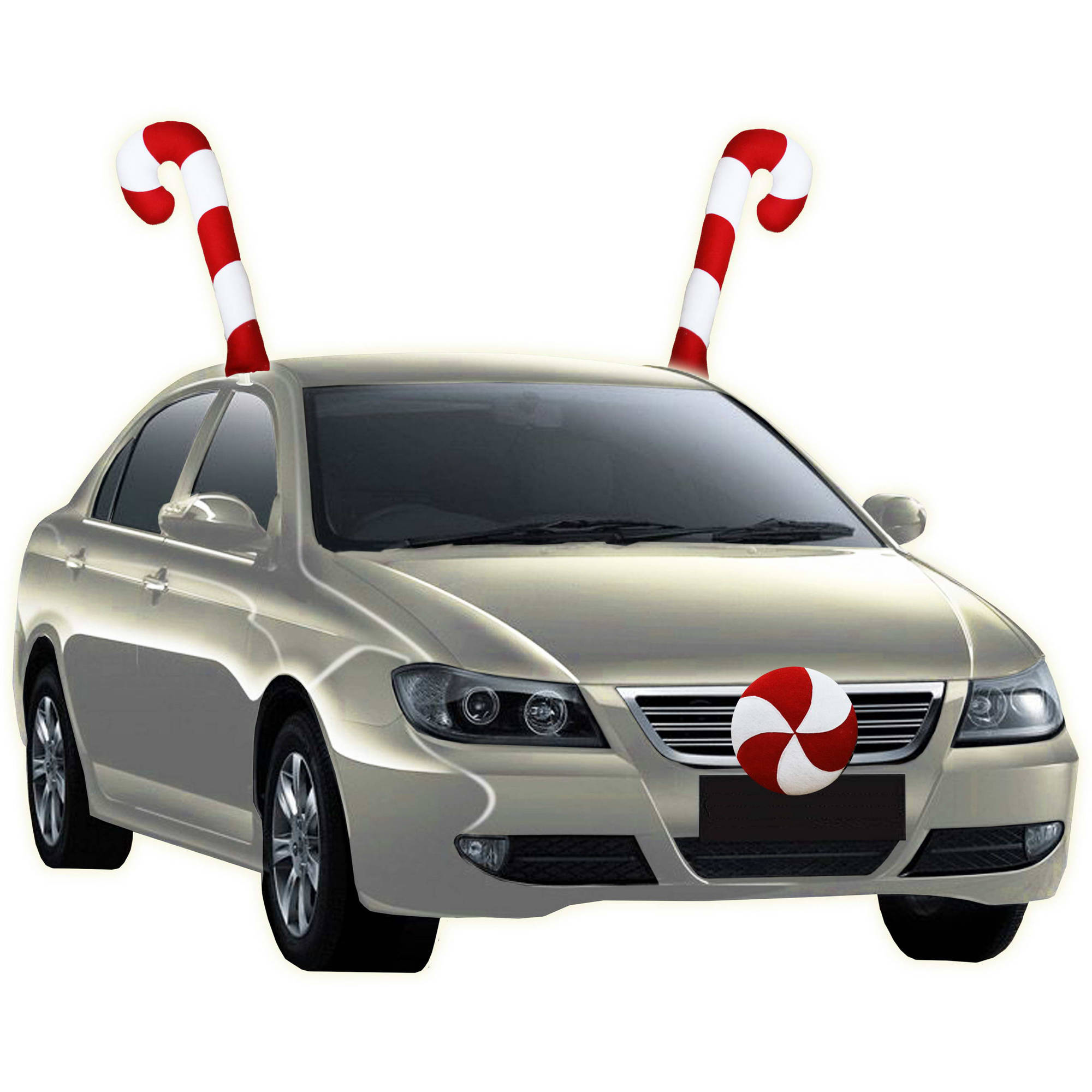 Christmas Car Decorations.Holiday Time Christmas Decor Candy Cane Car Costume