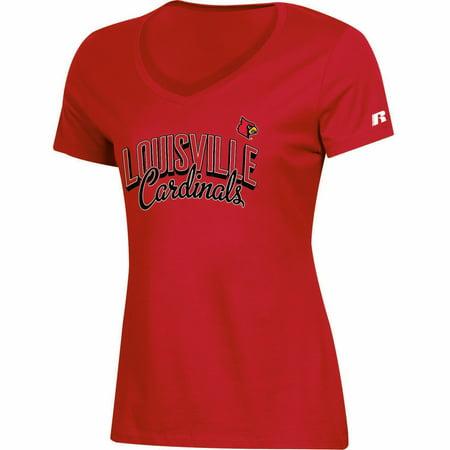Louisville Cardinals Halloween (Women's Russell Athletic Red Louisville Cardinals Arch V-Neck)