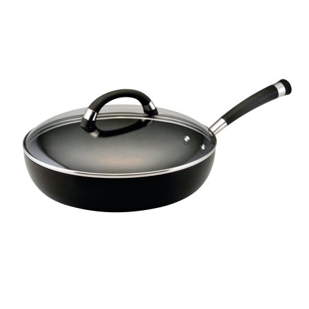 Circulon Espree Hard-Anodized Nonstick 12-Inch Covered Deep Skillet, Black Circulon Oven Safe Skillet