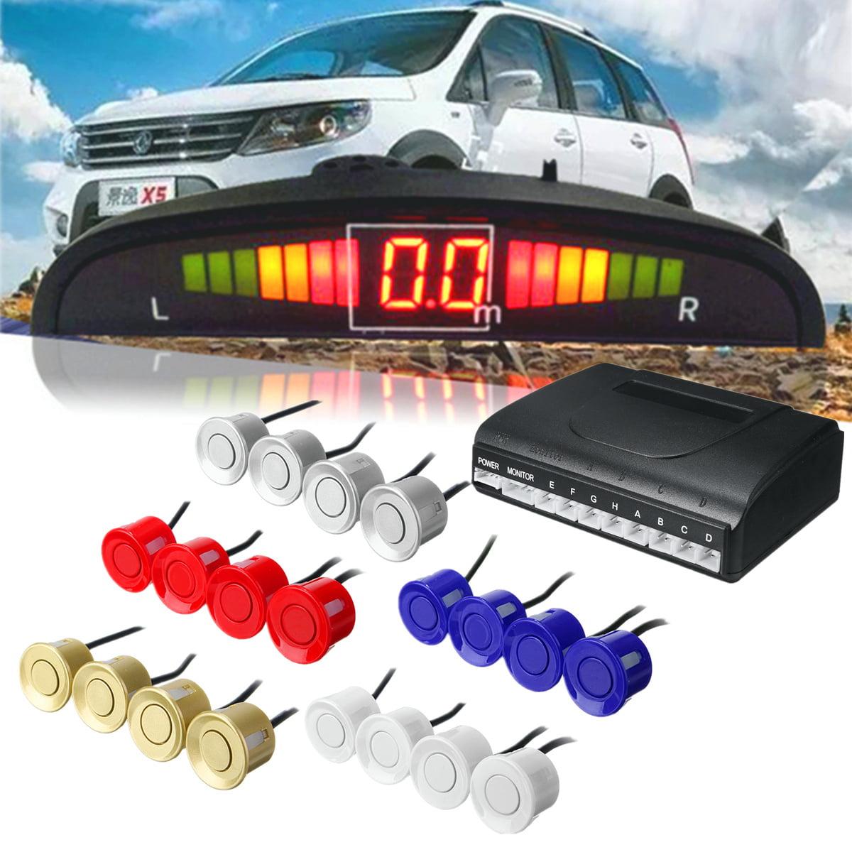 Car Reverse Backup 8 Sensor Parking Kit Radar System LED Display Monitor Buzzer