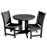 highwood® Eco-Friendly Recycled Plastic Lehigh 3pc Round Dining Set