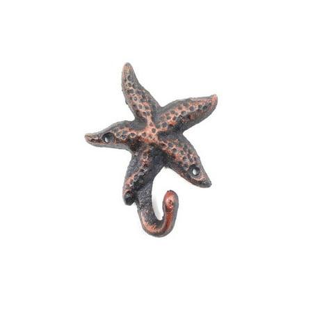 Rustic Copper Cast Iron Starfish Hook 6