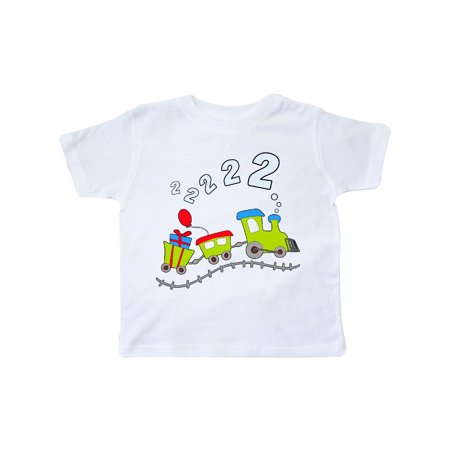2nd Birthday Party Train Toddler T Shirt