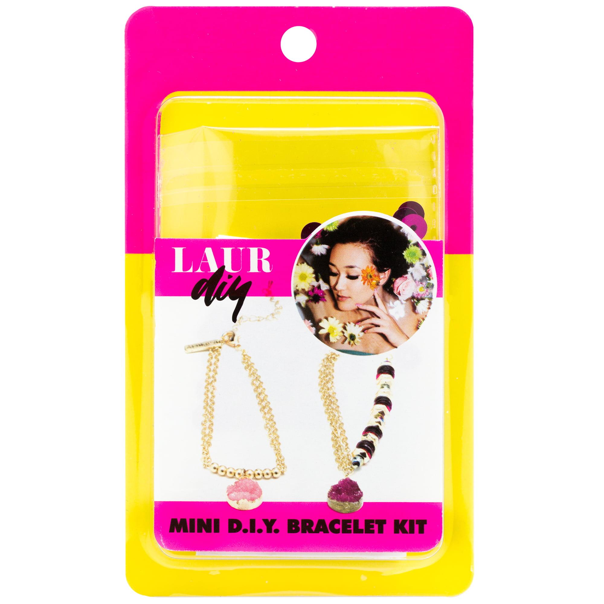 LaurDIY Pink Gold Druzy Chain Bracelet Mini DIY Kit