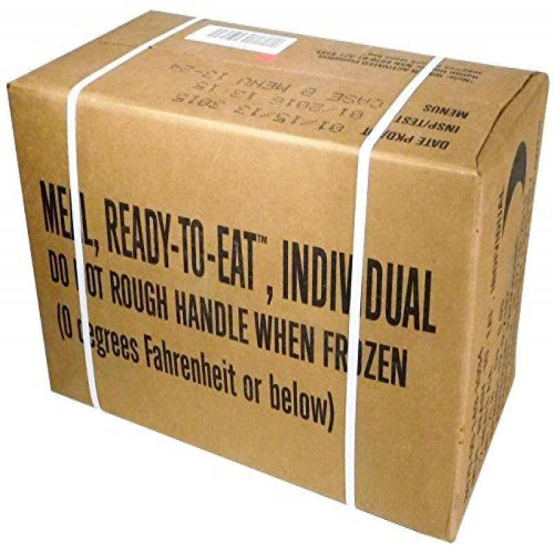 MREs (Meals Ready-to-Eat) Box B, Genuine U.S. Military Su...