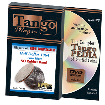 - Flipper Coin Pro Elastic Half Dollar 1964 (w/DVD) (D0138) by Tango - Trick