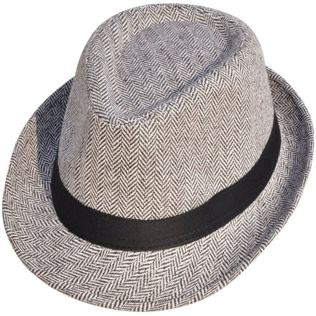 dbb08c96fabe Simplicity® Adult Feather Trilby Wool Fedora Hats, Brown/Black Band -  Walmart.com