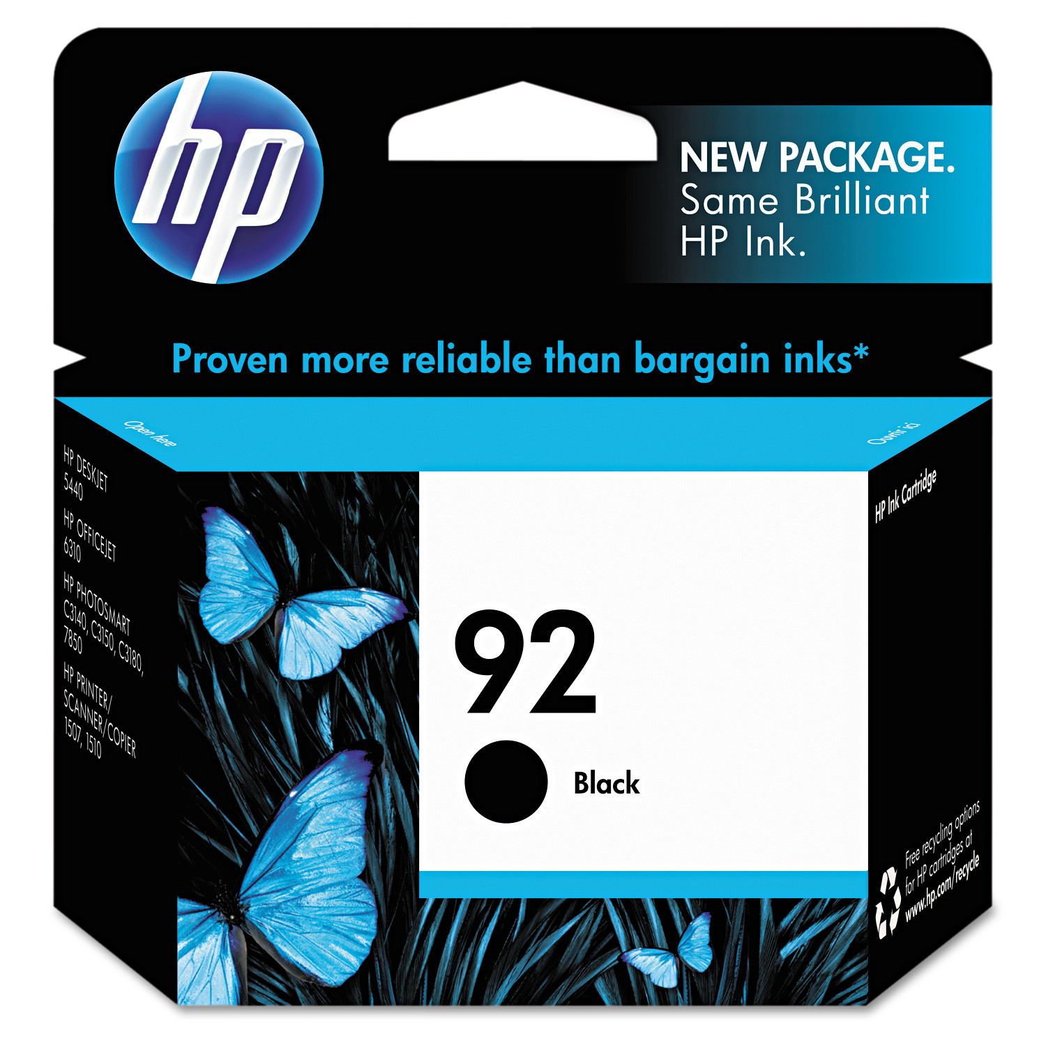 HP 92, (C9362WN) Black Original Ink Cartridge