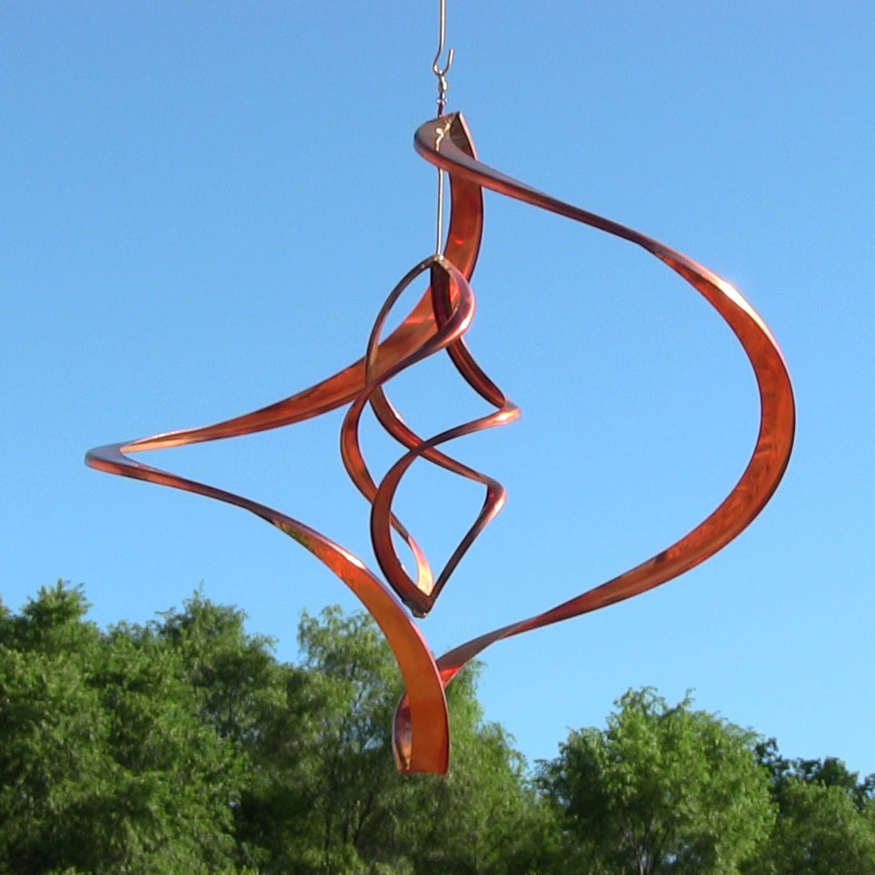 Sunnydaze Orbiter Copper Wind Spinner Decor Kinetic Lawn Accent Multiple Sizes by Wind Spinners