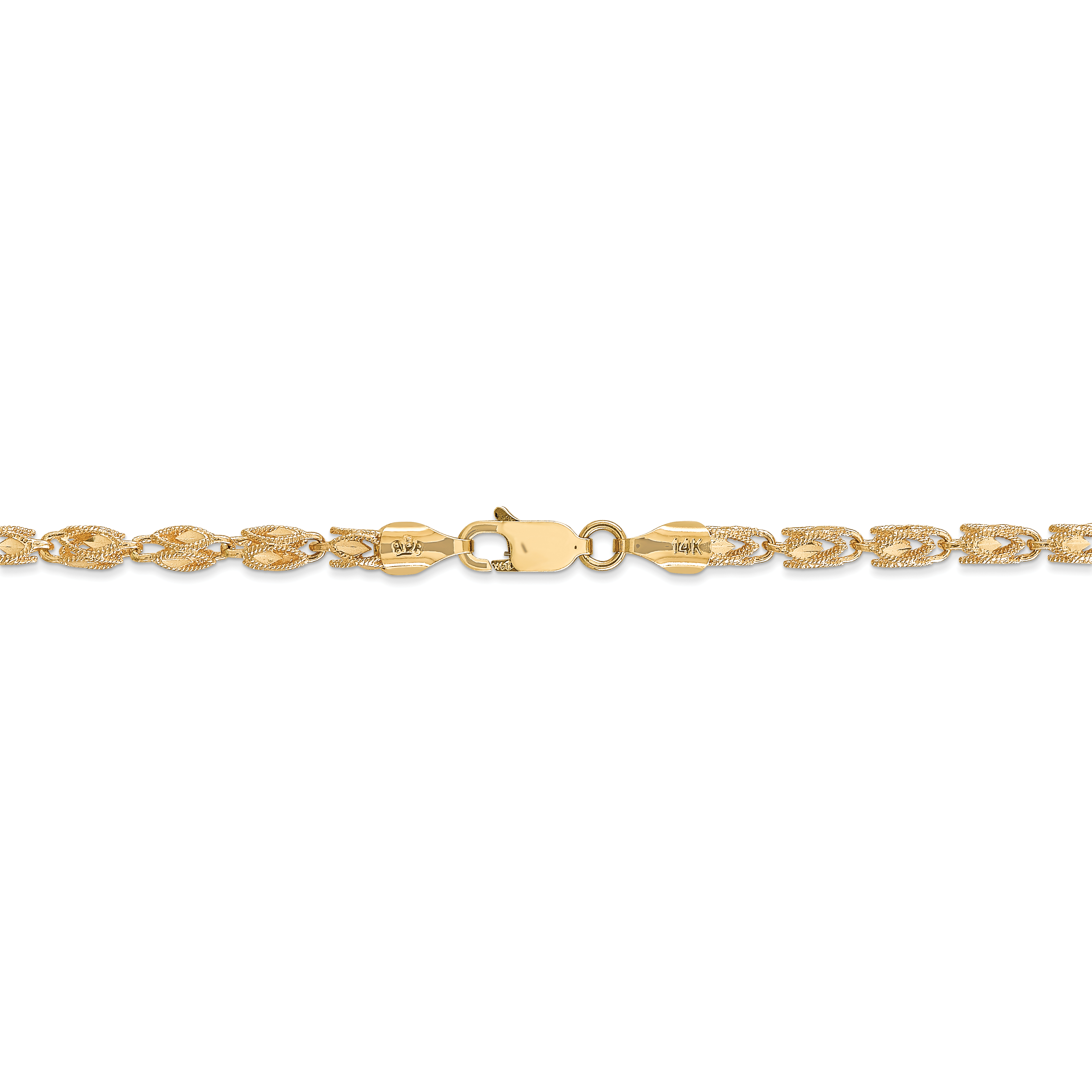 14k Yellow Gold 3.5mm Marquise Chain Necklace 18 Inch Pendant Charm Fine Jewelry Gifts For Women For Her - image 2 of 5