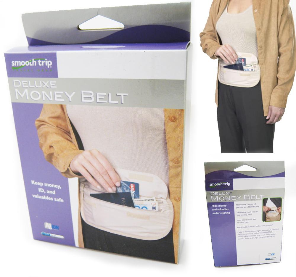 Deluxe Security Pouch Fanny Pack Waist Money Belt Hidden