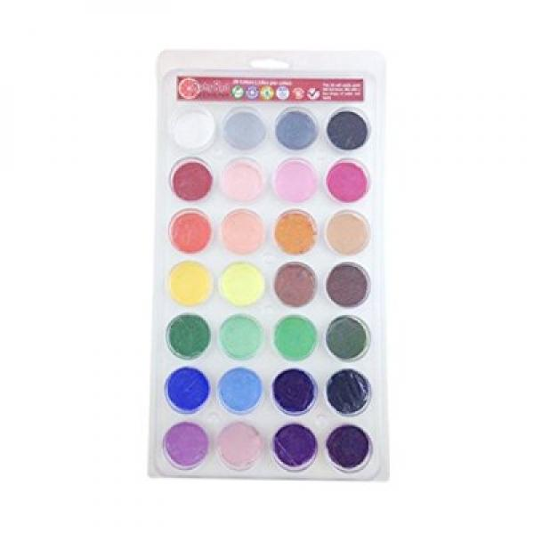 RED Maiden Texas Face Paint, 2ML X 28 Colors - Top 28 Colors