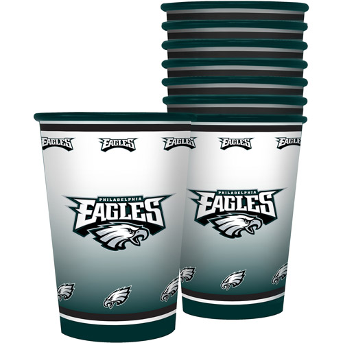 NFL 20 oz Philadelphia Eagles Plastic Souvenir Cups, 8pk