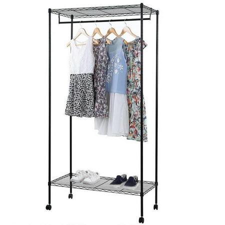 Ktaxon Closet System Storage Organizer Garment Rack Clothes Hanger Dry Shelf Heavy Duty