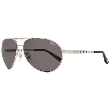Chopard Aviator Sunglasses SCHB01M S80Z Satin Palladium Polarized (Chopard Sunglasses For Women)