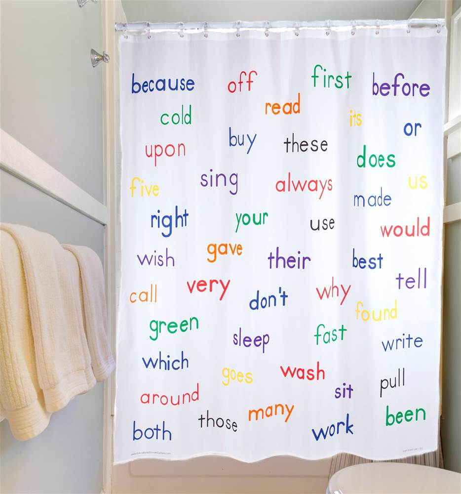 Educational Shower Curtain - Grade 2 Words