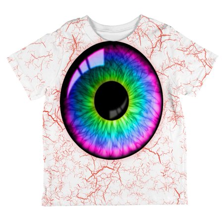 Halloween Rainbow Creepy Eyeball Costume All Over Toddler T Shirt - Eyeball Costume