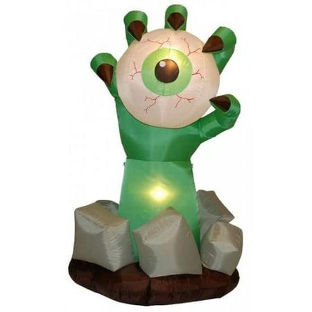 BZB Goods Halloween Inflatable Monster Hand with Eyeball Decoration