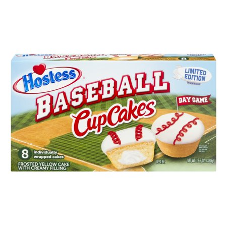 Hostess Baseball Cupcakes Yellow - 8 CT