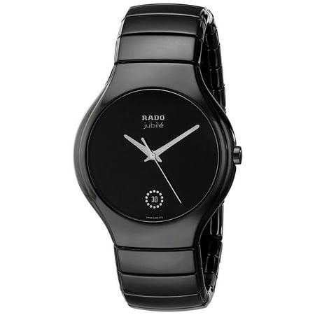69fc6bc1c89 Rado - Rado True Jubile Black Ceramic Mens Watch Calendar Quartz R27653722  - Walmart.com