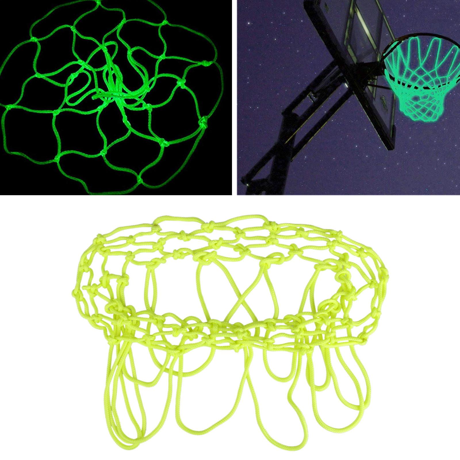 EEEkit Basketball Hoop Net Glow In The Dark Replacement, Fluorescent Green, fit for Luminous Shoot Training Sports Kid Gift