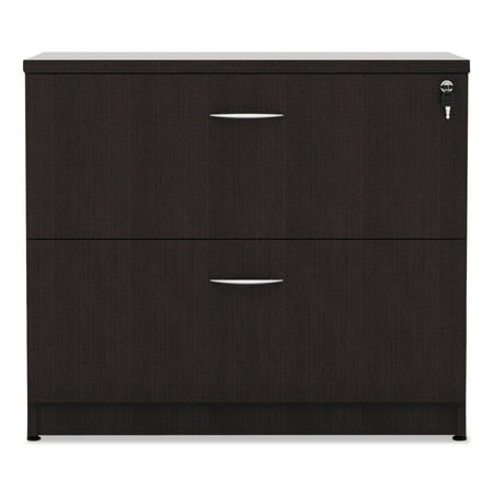 Alera 2 Drawers Lateral Lockable Filing Cabinet, Espresso