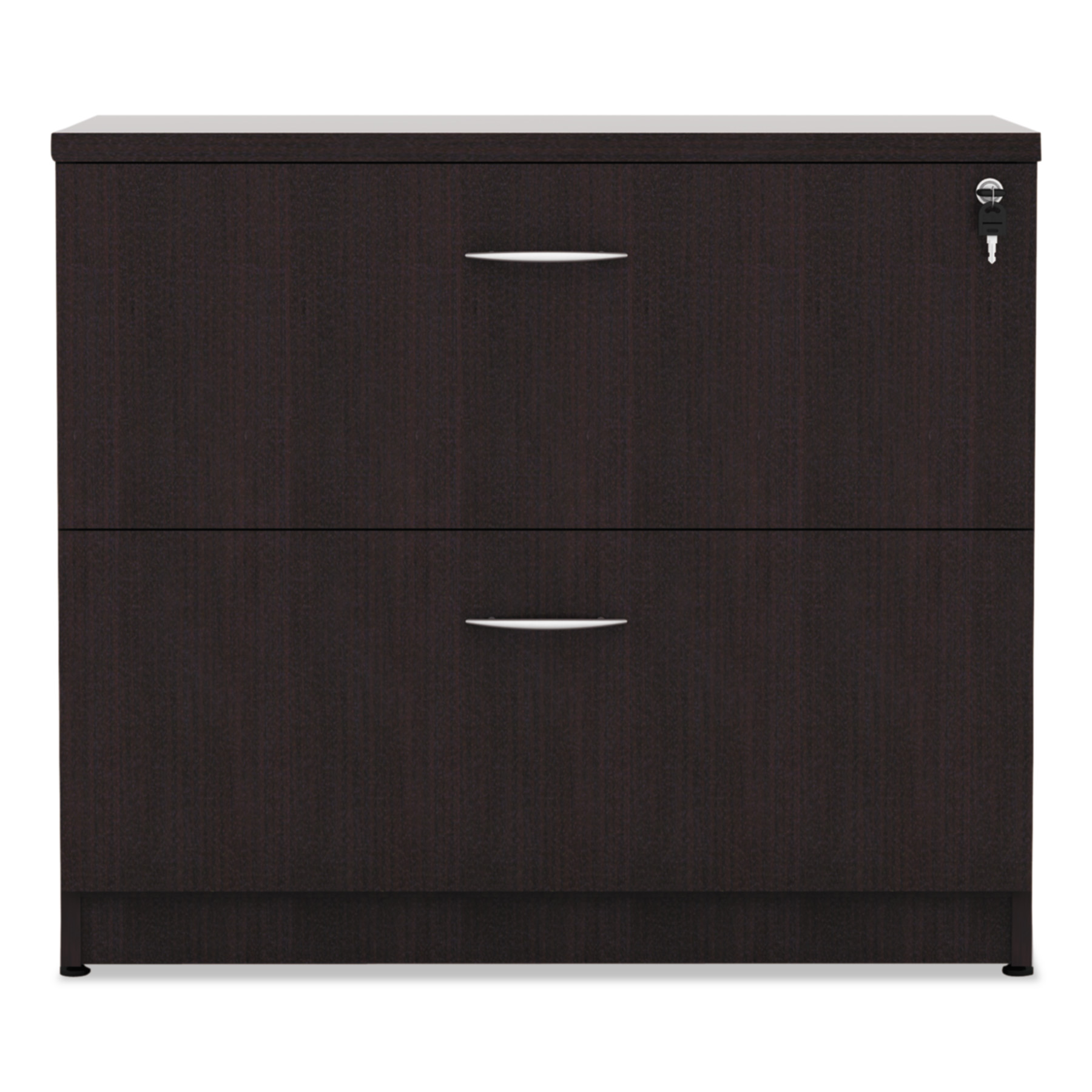 Alera 2 Drawers Lateral Lockable Filing Cabinet Espresso  sc 1 st  Walmart & Alera 2 Drawers Lateral Lockable Filing Cabinet Espresso - Walmart.com