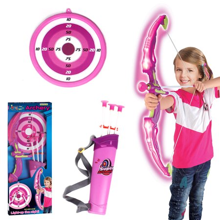 Children Plastic Bow and Arrow Sport Shooting Archery Toys Set with LED Light with Arrow Holder - Arrow Of Light Ceremony Ideas