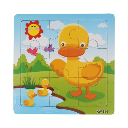 Wooden Duck Jigsaw Toys For Kids Education And Learning Puzzles Toys - Jigsaw Puzzles For Kids