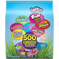 Egg-fillers Nerds, Trolli, Bottlecaps, SweeTarts, Chewy Lemonhead, Super Bubble & Now and Later Easter Candy Variety Pack , 105oz (500 Count)