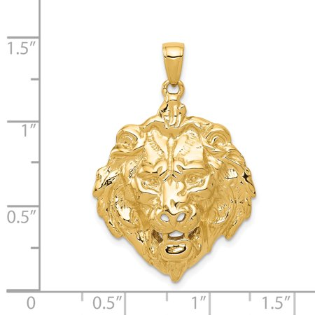 14K Yellow Gold Lion Charm - image 1 of 2
