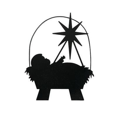 IN-13710708 Silhouette Manger Ornaments](Manger Silhouette)