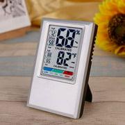 Digital Hygrometer Home Hotel Thermometer Indoor & Outdoor Hygrometer Gray