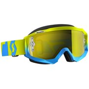 Scott Hustle Oxide 2016 MX/Offroad Goggles Blue/Green/Yellow Chrome Lens