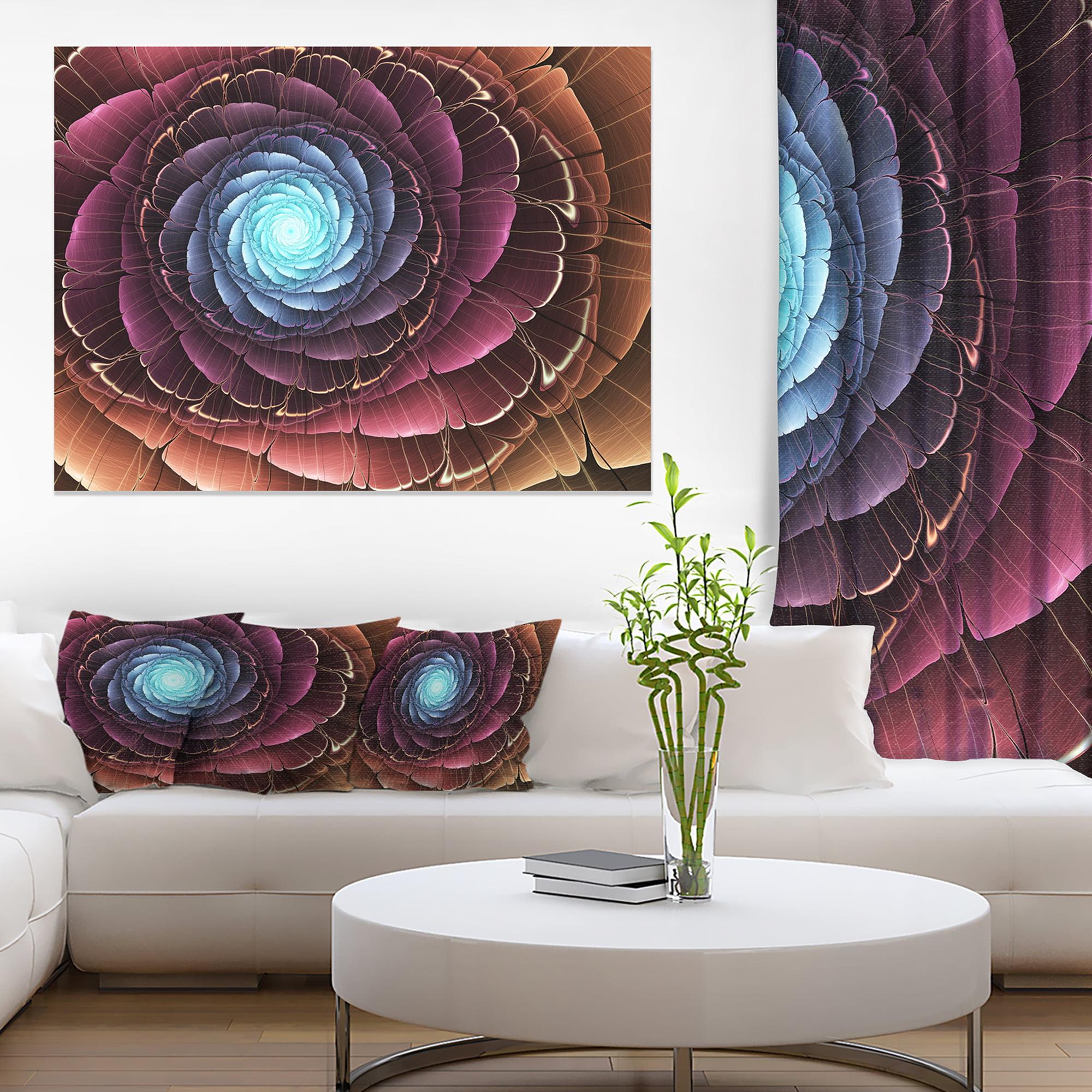 Fractal Flower Pink Brown Digital Art - Floral Canvas Art Print - image 3 of 3
