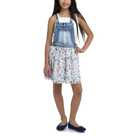 Girls' Denim Skirtall Dress