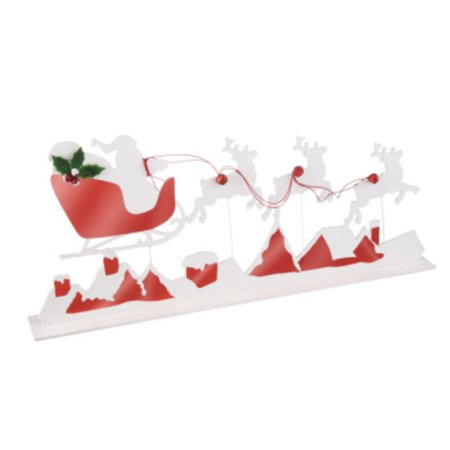 31 Reindeer And Sleigh Silhouette Table Top Decoration