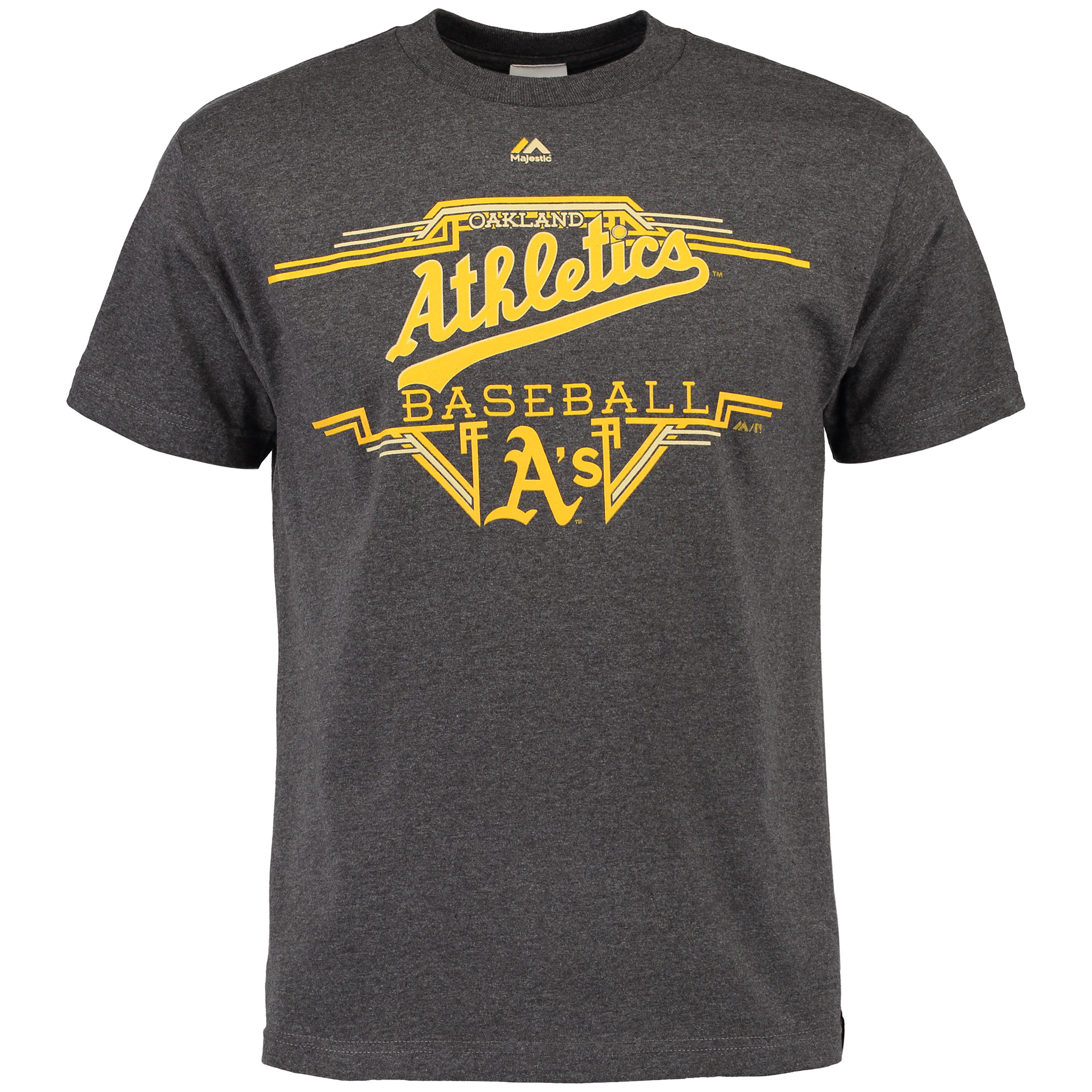 Oakland Athletics Majestic Cooperstown Collection Great Performance T-Shirt - Charcoal