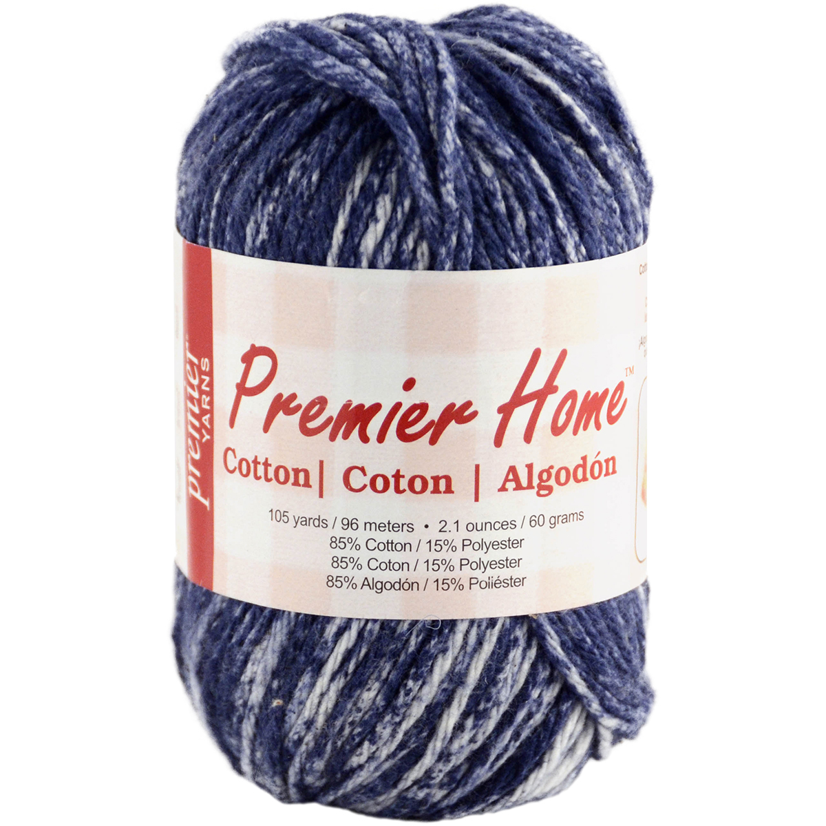 Home Cotton Yarn, Multicolored, Denim Splash