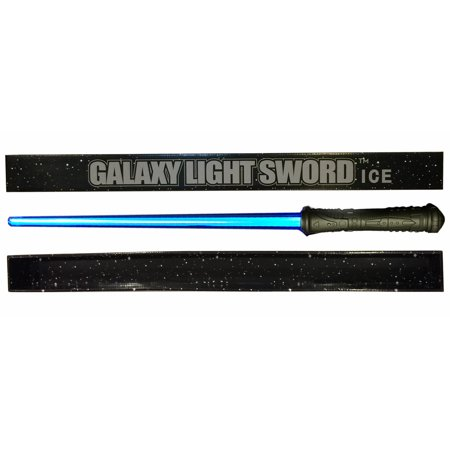 Galaxy ICE Light Sword – DELUXE BLUE light-up Saber Sword with an authentic power up and down humming sound, added durability and gift ready packaging.  Blue Light Saber - Sword Sound
